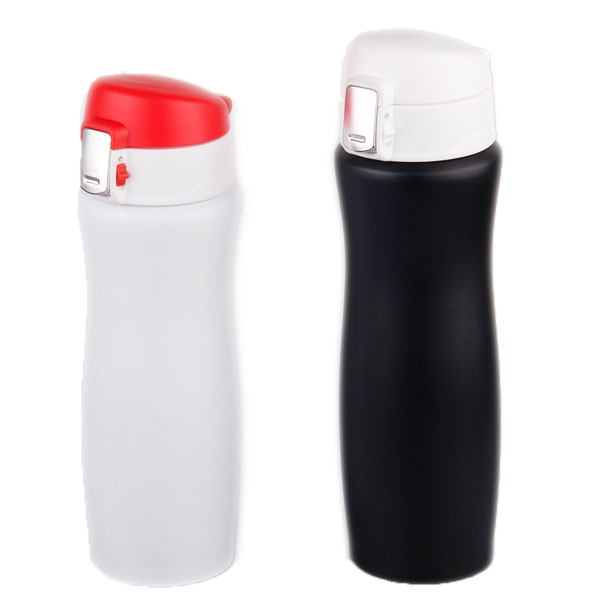 double wall vacuum stainless steel vacuum flask with auto-sealed lid